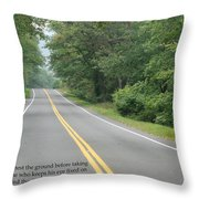 Dag Hammarsakjold Never Look Down... Throw Pillow