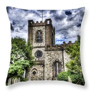 Dagenham Village Church Throw Pillow