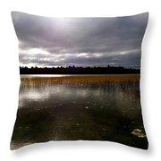Dahler Lake In Emily Minnesota Throw Pillow