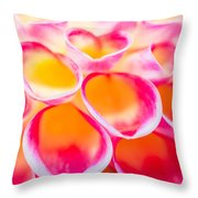 Dahlia Abstract Throw Pillow