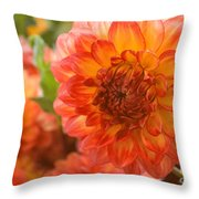 Dahlia Bright Throw Pillow