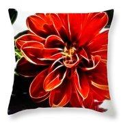 Dahlia Expressive Brushstrokes Throw Pillow
