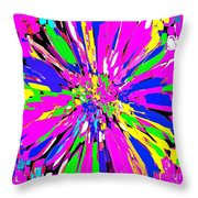Dahlia Flower Abstract #1 Throw Pillow