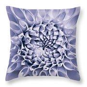 Dahlia Flower Star Burst Purple Throw Pillow