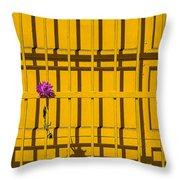 Dahlia In Yellow Gate Throw Pillow