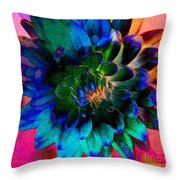 Dahlia With Textures Throw Pillow