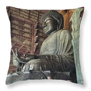 Daibutsu Buddha Of Todai-ji Temple Throw Pillow