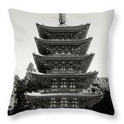 Daigo-ji Pagoda - Japan National Treasure Throw Pillow
