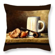 Daily Bread #3 Throw Pillow