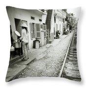 Daily Life In Hanoi Throw Pillow