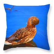 Daily Oil Treatment  Throw Pillow
