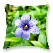 Dainty Blue Throw Pillow