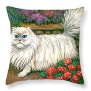 Dainty The Cat Throw Pillow