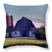Dairy Barn Throw Pillow