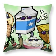 Dairy Food Group Throw Pillow