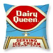 Dairy Queen Sign Throw Pillow