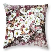 Daisy Blush Remix Throw Pillow