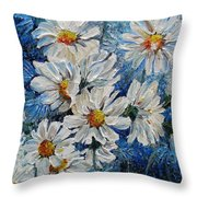 Daisy Cluster Throw Pillow