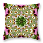 Daisy Daisy Do Kaleidoscope Throw Pillow
