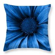 Daisy Daisy Pure Blue Throw Pillow