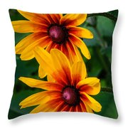 Daisy Duo Throw Pillow