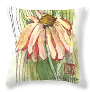 Daisy Girl Throw Pillow by Sherry Harradence