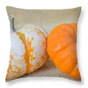 Daisy Gourd And Pumpkin Throw Pillow