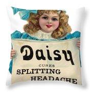 Daisy Headache Cure Throw Pillow