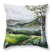 Daisy Lane Throw Pillow