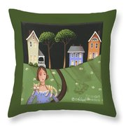 Daisy Mae And Betty Lou Throw Pillow