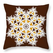 Daisy Mandala  12t Throw Pillow