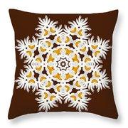 Daisy Mandala  12t Throw Pillow