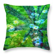 Daisy Palms Throw Pillow