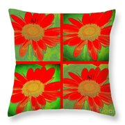 Daisy Perspective Collage Throw Pillow
