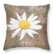 Daisy Textured Throw Pillow