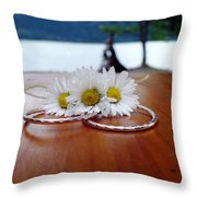 Daisy Unity Rings Throw Pillow