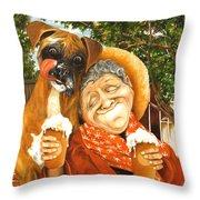Daisy's Mocha Latte Throw Pillow