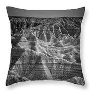 Dakota Badlands Throw Pillow