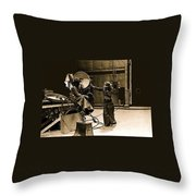 Dakota Homage #1 1945 Cowboy Extras Sound Stage Old Tucson Arizona Throw Pillow