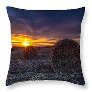Dakota Sunset Throw Pillow