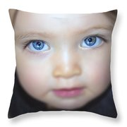 Dakota's Eyes Throw Pillow
