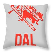 Dal Dallas Airport Poster 1 Throw Pillow by Naxart Studio