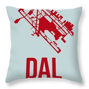 Dal Dallas Airport Poster 3 Throw Pillow