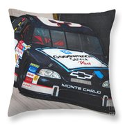 Dale Earnhardt At Bristol Throw Pillow