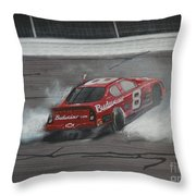 Dale Earnhardt Junior Victory Burnout Throw Pillow