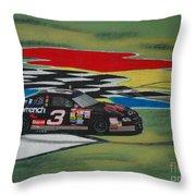 Dale Earnhardt Wins Daytona 500-infield Doughnuts Throw Pillow
