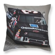 Dale Earnhardt Wins-wave To The Crowd Throw Pillow