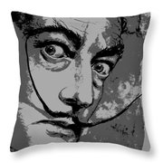 Dali In B W Throw Pillow