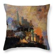 Dallas Abstract 002 Throw Pillow