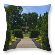 Dallas Arboretum Throw Pillow